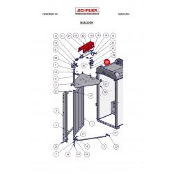 Tornillo cilindro aire comprimido