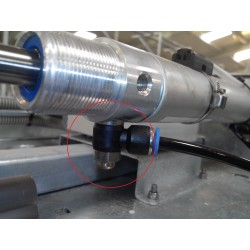 Regulador cilindro aire comprimido mecanismo cierre puerta de entrada